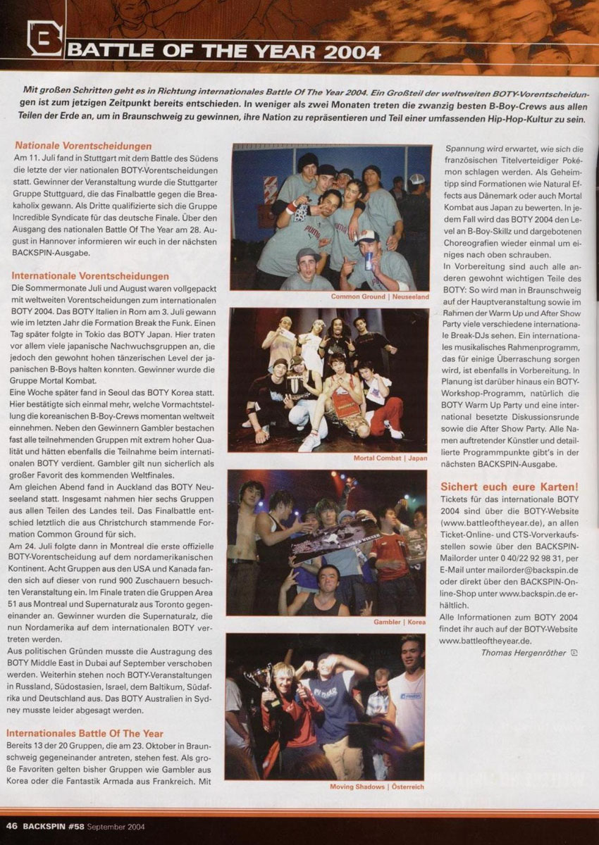 B.O.T.Y. 2004 press.backspin